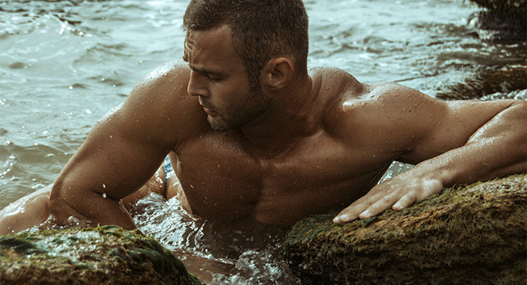 All Natural Moisturizers, Muscular Man In Ocean