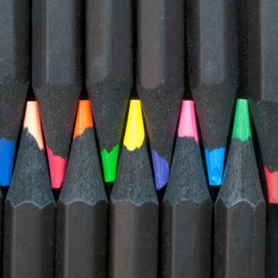 equality and diversity, close-up of colored pencils