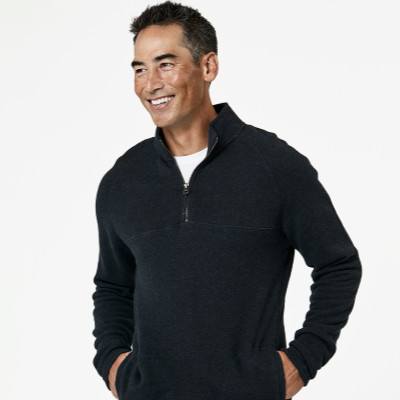 eco-friendly fashion brands, zip pull over