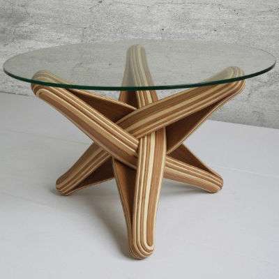coffee table designed out of highly sustainable bamboo