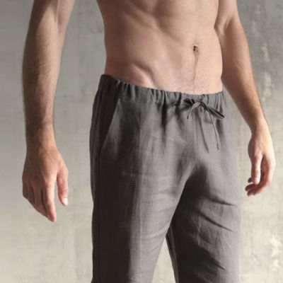 organic linen pants, sustainable materials