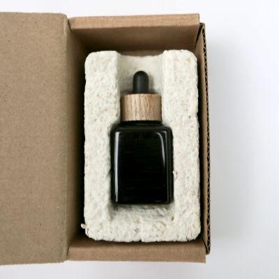 glass dropper bottle in eco-packaging
